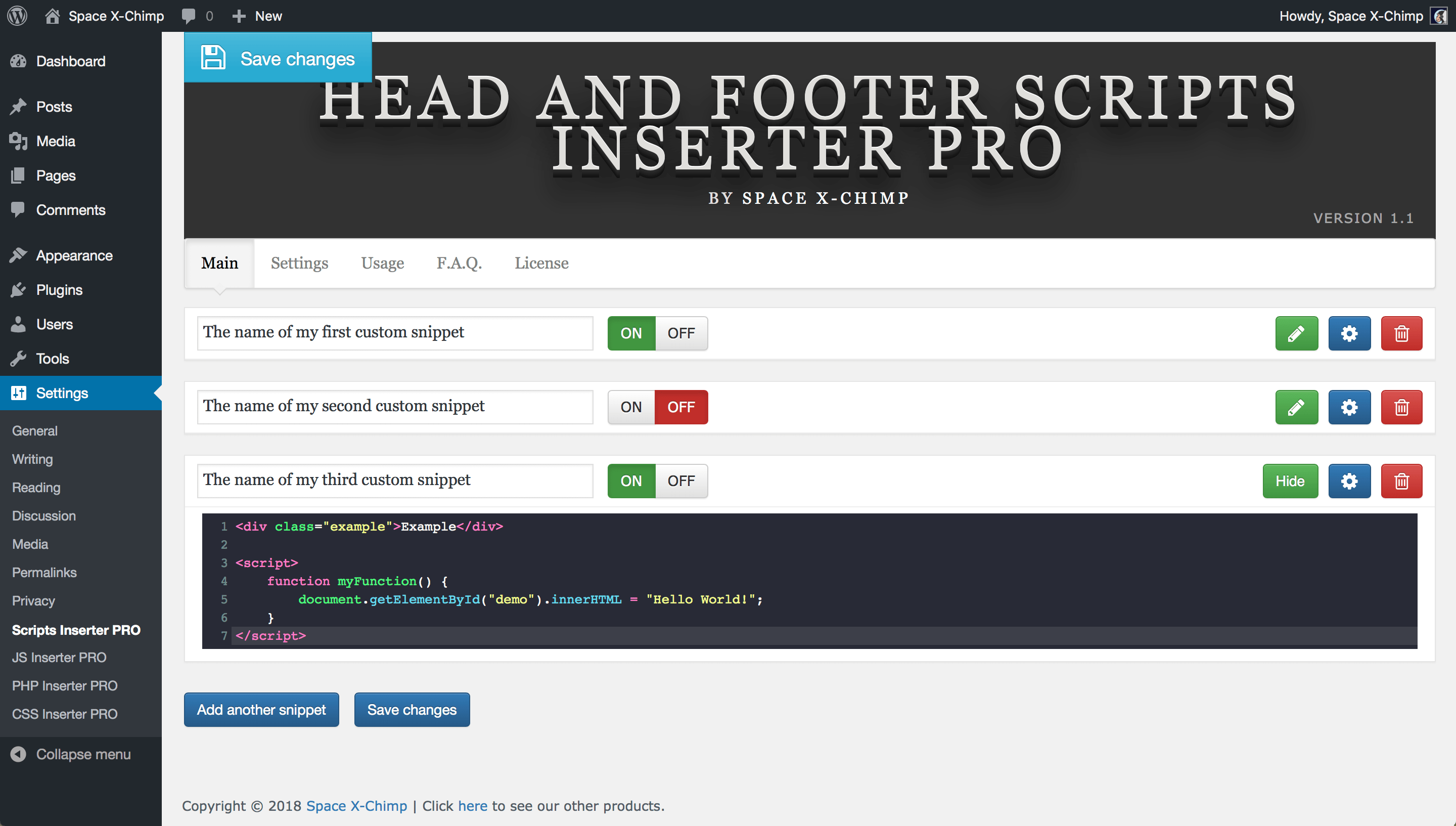 Head and Footer Scripts Inserter PRO