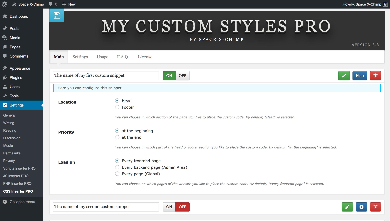 My Custom Styles PRO
