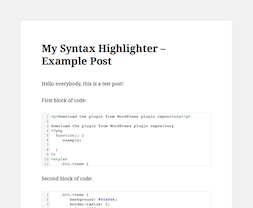 My Syntax Highlighter PRO