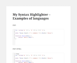 My Syntax Highlighter PRO