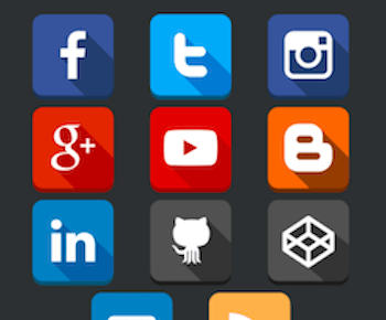 Social Media Follow Buttons Bar PRO